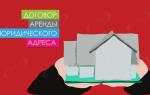 Договор аренды юридического адреса у собственника образец