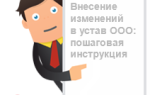 Как оформить изменения в устав ООО образец