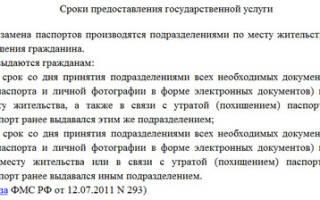 Сроки выдачи паспорта РФ при замене